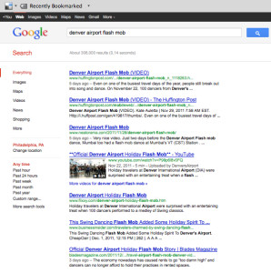 google flash mob