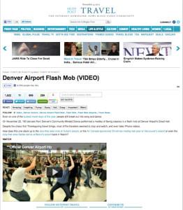 huff post flash mob